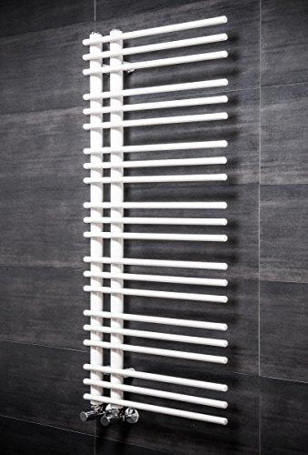 Designer Handtuchheizkörper Badheizkörper 1250x500mm Weiß