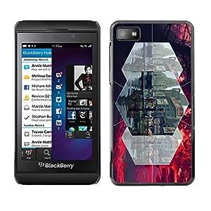 TopCaseStore / la caja del caucho duro de la cubierta de protección de la piel - gorod ulica lyudi linii - Blackberry Z10