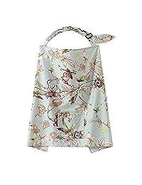 HuaYang Mum Mother Women Cotton Cover Baby Infant Breastfeeding Nursing Blanket Shawl - Floral Vane Pattern
