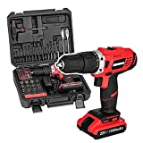 Kaluo 20V Cordless Lithium-Ion Compact Drill Driver, Impact Driver Bit Set with 77pc Project Kits