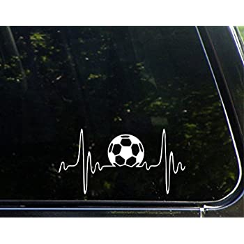 Amazoncom Soccer Ball Decal Car Truck Bumper Window Sticker - Window decals for cars