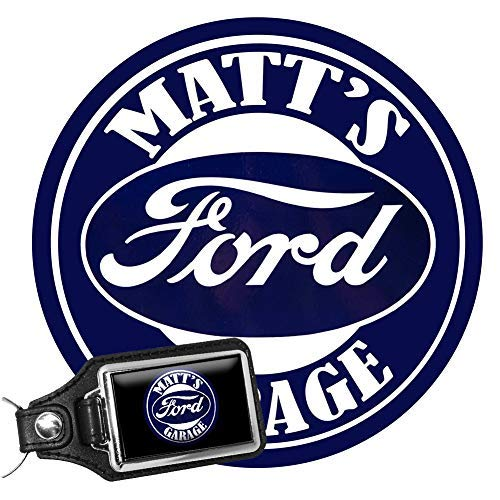 Brotherhood Personalize Vintage Garage Signs - Garage Decor Metal Tin Signs - Metal Garage Sign with A Ford Personalized Key Chain