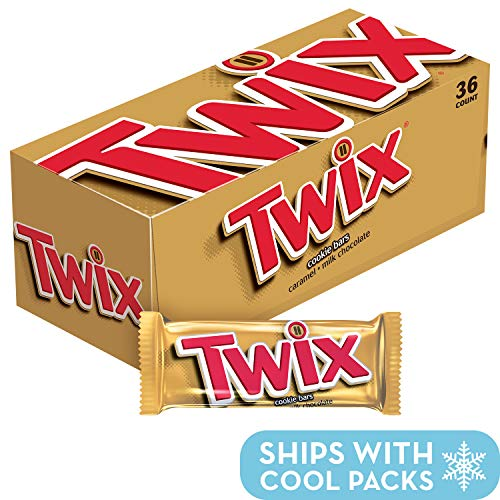 Twix Cookie Bars, Caramel Milk Chocolate, 1.79-Ounce Packages (Pack of 36) (Heart Candy Bars)