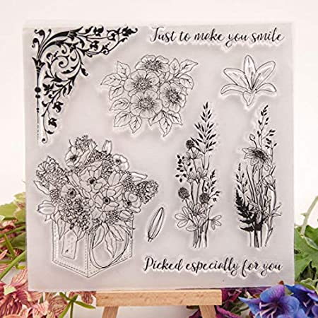 GIMITSUI Store Greeting DIY Clear Stamps Flower Clusters