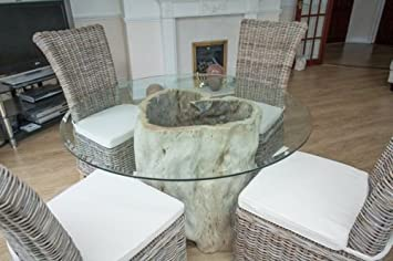 Saturday Kitchen Driftwood Style Circular Java Root Dining Table