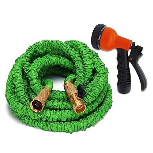 50 feet flexible stretch expandable garden hose strong for Best flexible garden hose