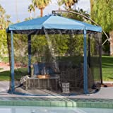 Better Homes and Gardens Offset Umbrella with Detachable Net, 11 ft.