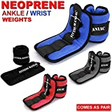 #5: FITNESS MANIAC Wrist Ankle Weights Adjustable Strap Fitness Exercise Running Walking Resistance Training Neoprene Aerobic Gymnastics Jogging Weights 4lbs 6lbs 8lbs 10lbs