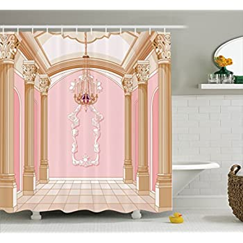 Amazoncom Teen Girls Decor Shower Curtain Set By Ambesonne - Bathroom accessories for girls