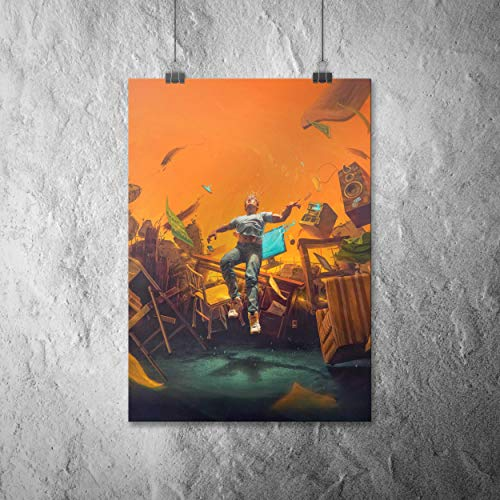 Logic - No Pressure Canvas Poster Wall Art Print on Fabric Home Decor Great Gift Idea