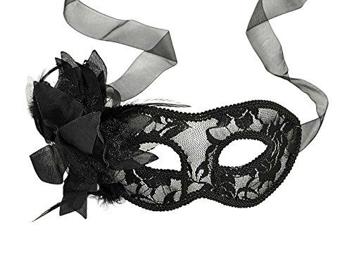Antspirit Lace Flower Masquerade Party Mask (black) ()