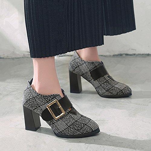 De Zapatos Espesor Con Mujer De Zapatos De Zapatos De Mujer Zapatos Tacones En Flujo Primavera GAOLIM Bajo Singles De Alto Negro Zapatos Femeninos La Altos Zapatos WqwnSRxgE