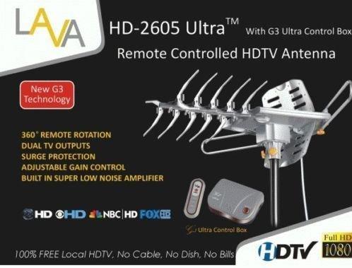 Lava Hd2605 Hdtv Digital Rotor Amplified Antenna Uhf