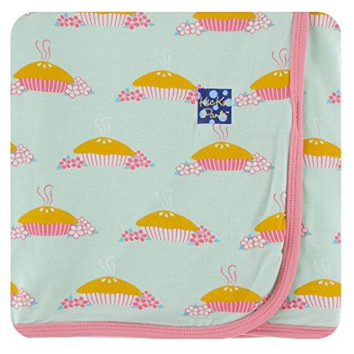 Kickee Pants Little Girls Print Swaddling Blanket - Apple Pie Blossom, One Size