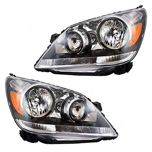 Headlights Headlamps Driver and Passenger Replacements for 05-07 Honda Odyssey Van 33151SHJA01 33101SHJA01