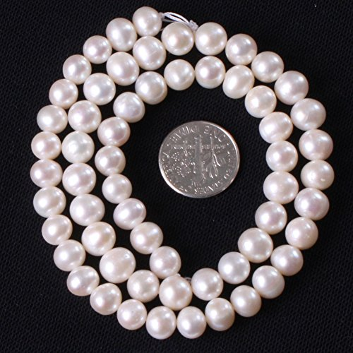 Freshwater Cultured Pearl Beads for Jewelry Making Natural Gemstone Semi Precious 6-7mm Round White 15