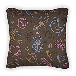 Gear New Romantic Pattern Throw Pillow With Removable Cover,