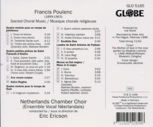 Francis Poulenc: Sacred Choral Music by Globe