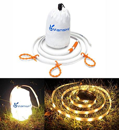 Price comparison product image Vansky LED Rope Lights Or Camping Lantern Waterproof Portable LED Strip Lights For Hiking, Safety, Emergencies, TV Backlight (Warm White)