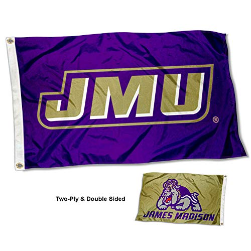 College Flags and Banners Co. James Madison Dukes Dual Logo Double Sided Flag