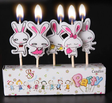 Rabbit Style Birthday Party Candles product image