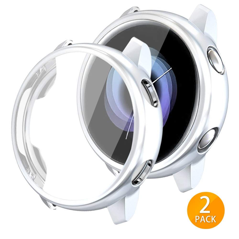 2 Fundas Para Galaxy Watch Active 40mm (silver)