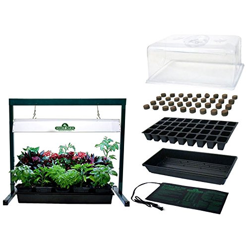 MegaGrow Indoor Seed Starter Plus with 2' long Grow Light System