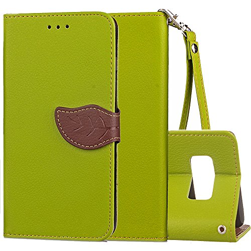 Galaxy Note 8 Wallet Case,Samsung N8 Wallet Case,Kudex Folio Premium Leather Stand Feature Card Holder Cash Porket Detachable Strap&Magnetic Leaf Buckle Slim AntiShock Protective Purse Case (Green) Review