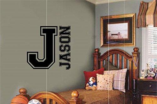 - Custom Name Personalized Sport Monogram Varsity Letter Vinyl Decal Wall Sticker