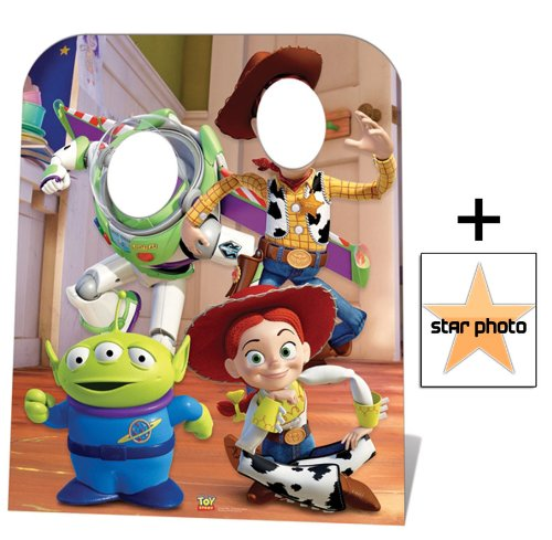 Fan Pack Buzz 20x25cm Toy Story Stand-in Star Photo Includes 8x10 Woody and Jessie Lifesize Cardboard Cutout // Standee Child Size