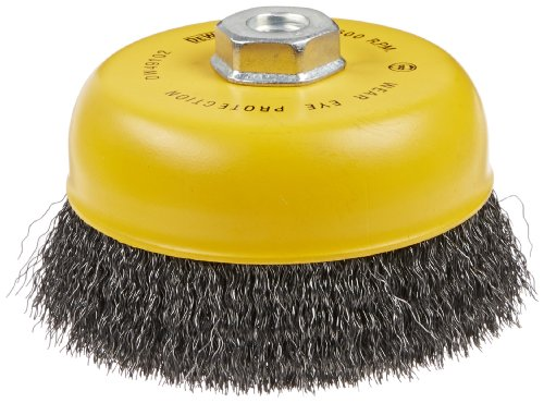 DEWALT DW49102 6-Inch by 5/8-Inch-11 HP .014 Carbon Crimp Wire Cup (Carbon Crimped Wire)