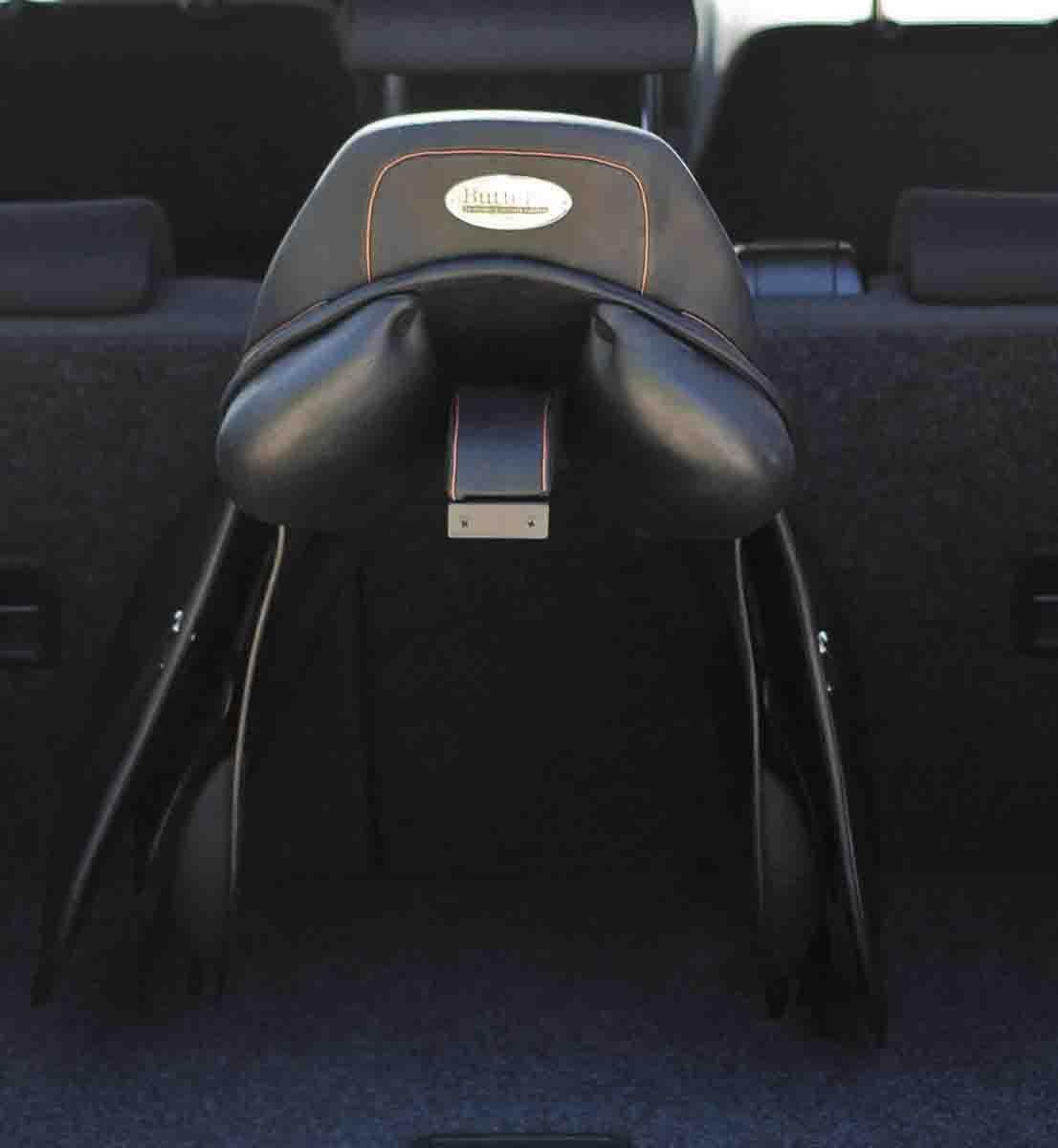 Sattelhalter Auto für Sättel Butterfly Sattelhalter DT-Saddlery | Autosattelhalter | Sattelhalter flexibel