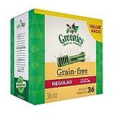 GREENIES Grain Free Regular Size Dental Dog Treats, 36 oz. Pack (36 Treats)