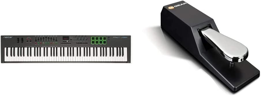Impact LX88+ 88-Key Nektar Digital Pianos /& More Universal Sustain Pedal with Piano Style Action for MIDI Keyboards /& M-Audio SP 2