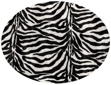Ahh Products Zebra Animal Print Fur Washable Large Bean Bag Chair