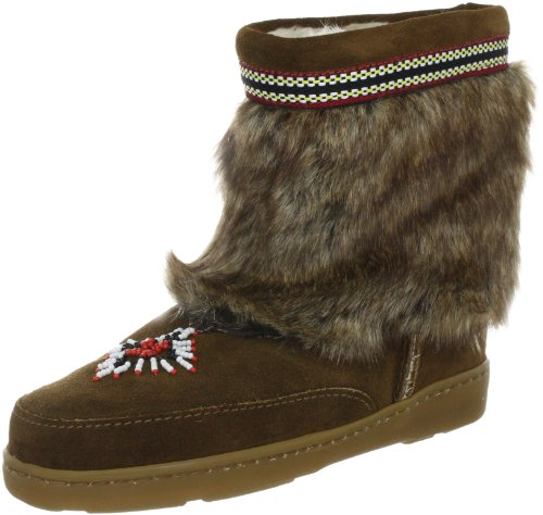 Minnetonka Mukluk Low 3773 - Botas fashion de ante para mujer Marrón