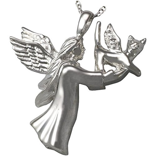 Memorial Gallery Pets 3199 Angel CatSS Sterling Silver Cremation Pet Jewelry by Memorial Gallery Pets