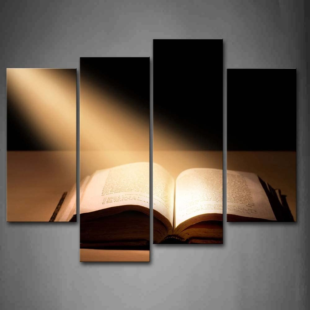 B00RDDQAOM First Wall Art - The Holy Bible Wall Art Painting The Picture Print On Canvas Religion Pictures for Home Decor Decoration Gift 51RX52BZCN0L