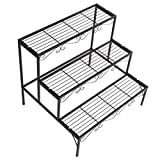 DOEWORKS 3 Tier Stair Style Metal Plant
