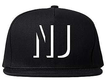Kings Of NY NJ New Jersey Abbreviation State Snapback Hat Black
