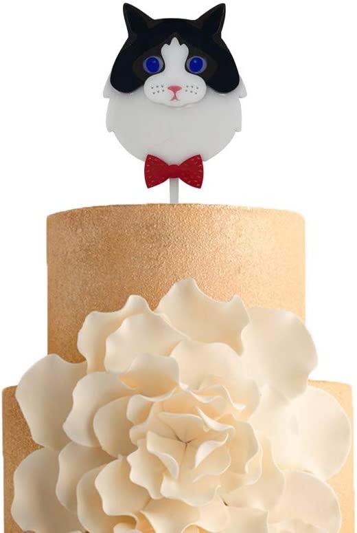 Strange Amazon Com Cake Topper Kitten Cake Topper Acrylic Cake Top For Personalised Birthday Cards Paralily Jamesorg