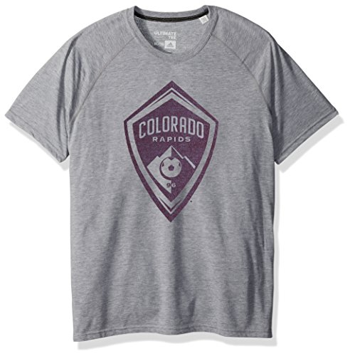 adidas MLS Vancouver Whitecaps Adult Men Fabrication Ultimate S/Tee, Small, Medium Grey