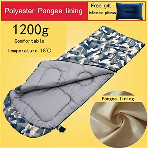 Erwachsene Schlafsack   Material Futter und Polyester Pongee 2 Arten von Futter Outdoor Camping warme Schlafsack