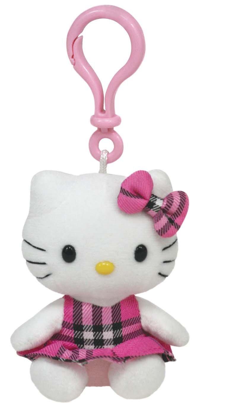 Amazon.com  Ty Hello Kitty - Pink Tartan Clip  Toys   Games 98c73ade62a