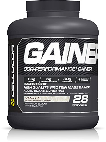 Cellucor Cor-Performance 28 Servings Mass Gainer Protein Powder Supplement, Vanilla, 2436 Gram