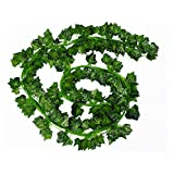 LJY 16 Pack Artificial Greenery Ivy Vine Leaves Garland for Wedding Party Garden Wall Christmas Decoration