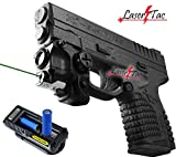 LaserTac Rechargeable Subcompact Green Laser Sight