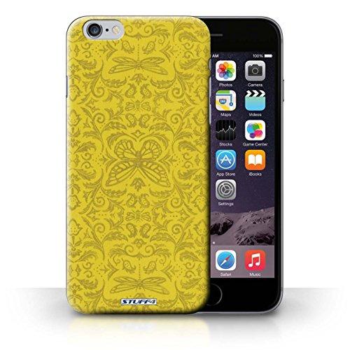 Hülle Case für iPhone 6+/Plus 5.5 / Gelb Entwurf / Insekten Muster Collection