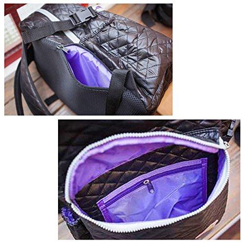 LCY Unisex multifunción impermeable mochila de pañales de rosa rosa rosa