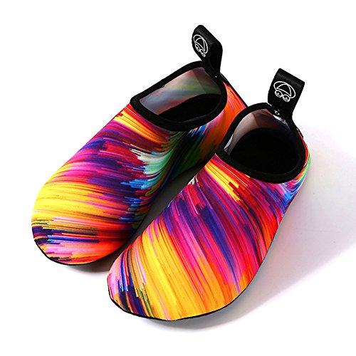Barefoot Shoes Water Sports Shoes Quick-Dry Aqua Yoga Socks for Women Men Kids (S: (Women:5.5-6.5/Men:4-5), QC)